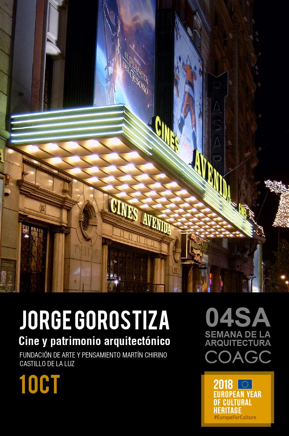 Conferencia-debate 'Cine y patrimonio arquitectónico' de Jorge Gorostiza