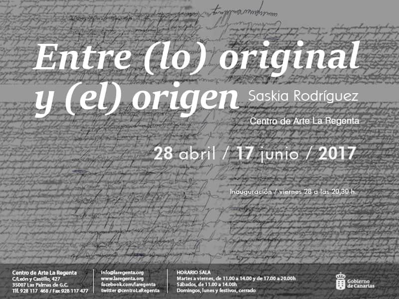 Exposición 'Entre (lo) original y (el) origen' de Saskia Rodríguez