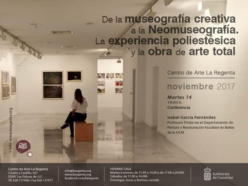Conferencia 'De la museografía creativa a la Neomuseografía' de Isabel M. García