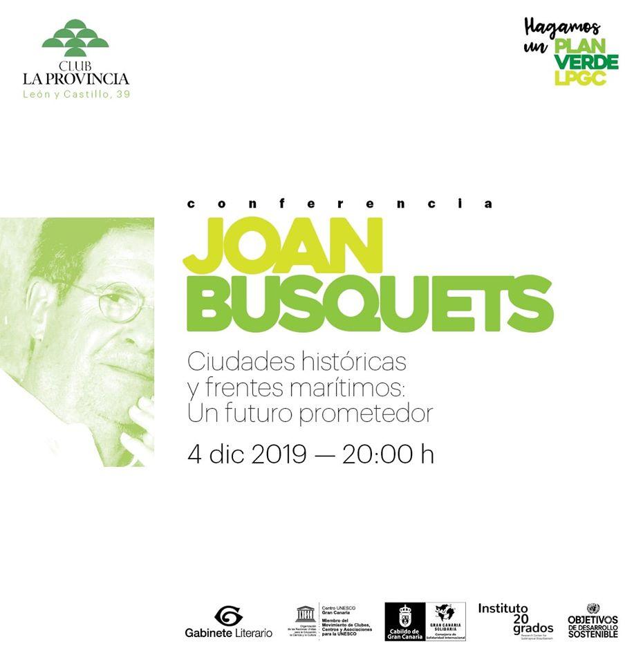Conferencia de Joan Busquets