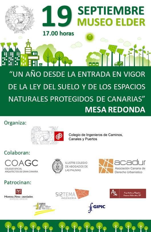 Mesa redonda 'Un año de la Ley del Suelo de Canarias'