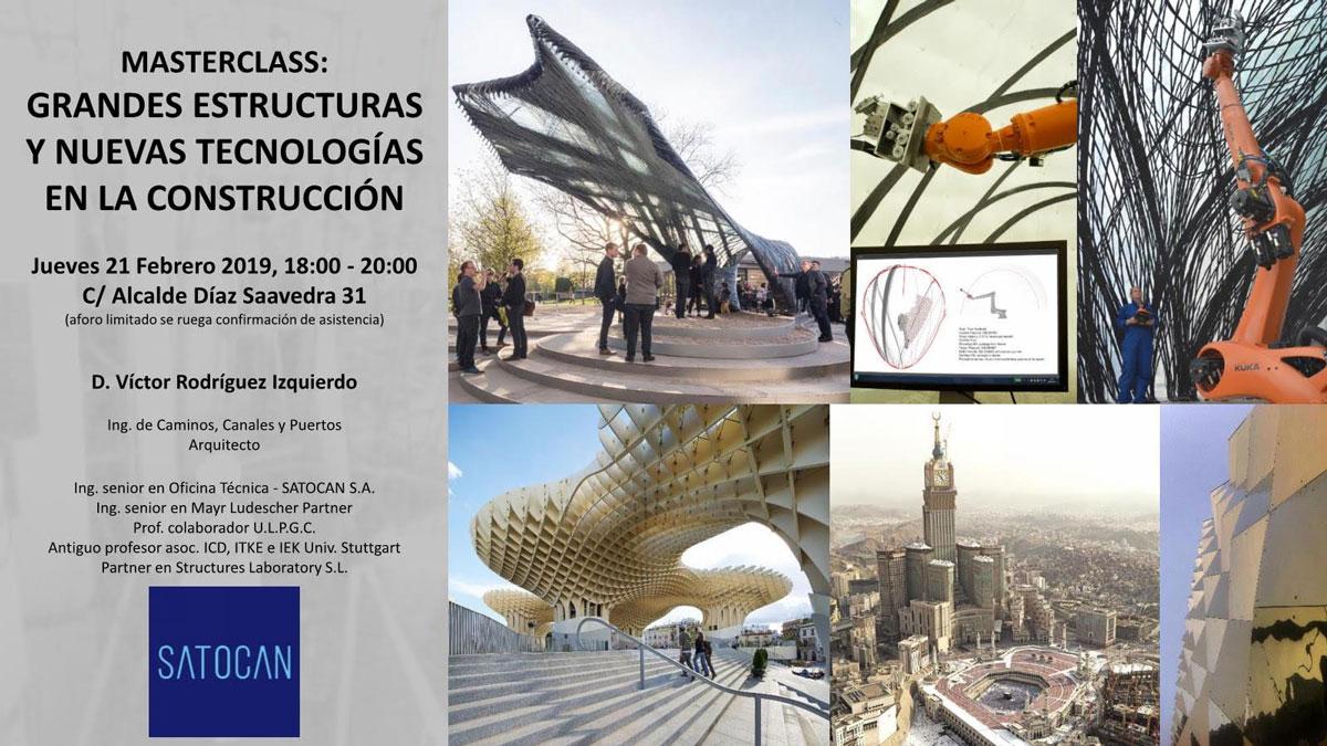 Masterclass 'Grandes estructuras y nuevas tecnologías'