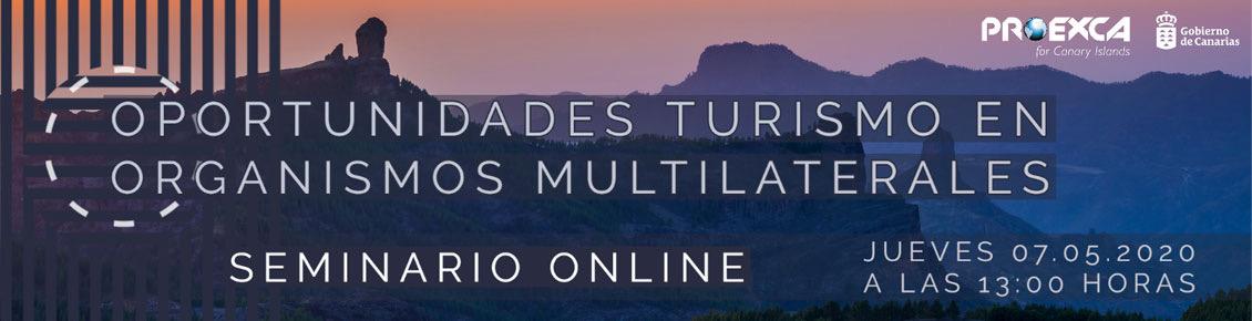 Webinar 'Oportunidades turismo en organismos multilaterales'