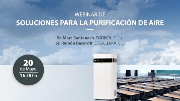 Webinar 'Soluciones para la purificación del aire'