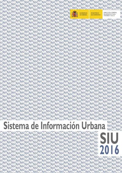 Sistema de información urbana SIU 2016